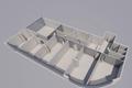 3D Darstellung mögliche Büroeinteilung neu - visualizzazione 3D nuova suddivisione uffici