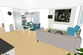 Vorschlag Visualisierung Wohnküche - proposta visalizzazione cucina abitabile