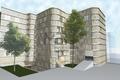 Rendering Projektstudie Verkleidung Fassade und Erweiterung - possibile rivestimento facciata ed ampliamento