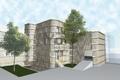 Rendering Projektstudie Verkleidung Fassade - possibile rivestimento facciata